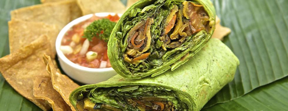 Veggie Wrap – Restaurant & Hotel in Montezuma, Costa Rica