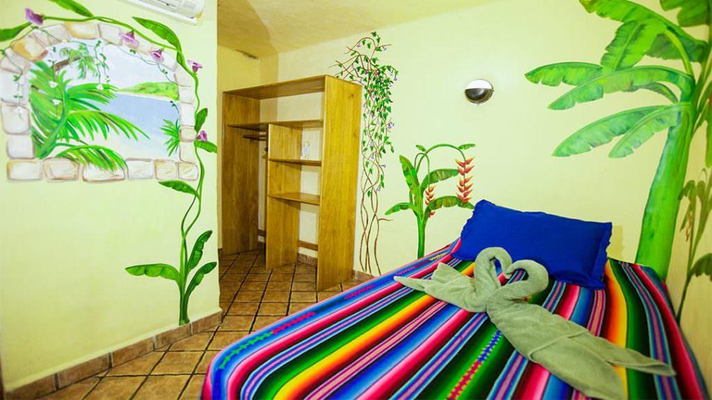 Habitación del Hotel El Sano Banano Village opción de cama individual