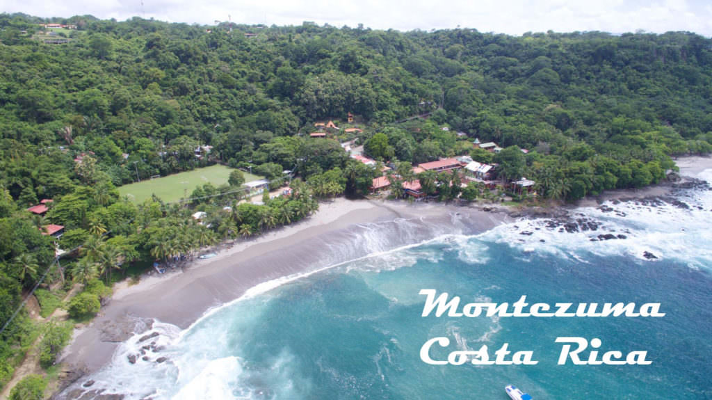 aerial view of montezuma beach in costarica