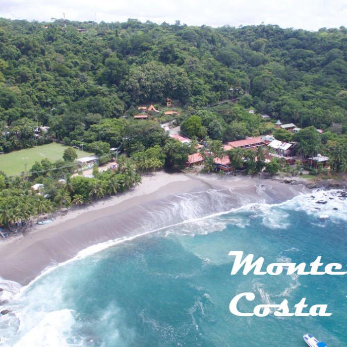 aerial view of montezuma beach in costarica